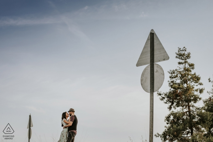 mersin/Turkey pre-wedding Photos   Love signs indicate there is love ahead on this road