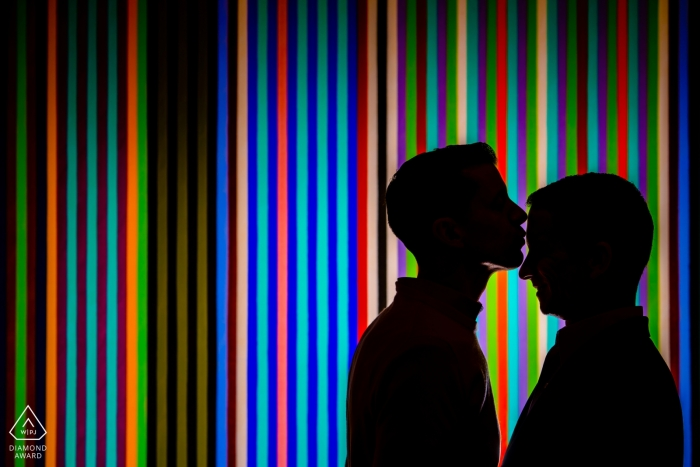 Porträtsession in der Nationalgalerie des Art East Wing - Silhouette in einer Kunstgalerie