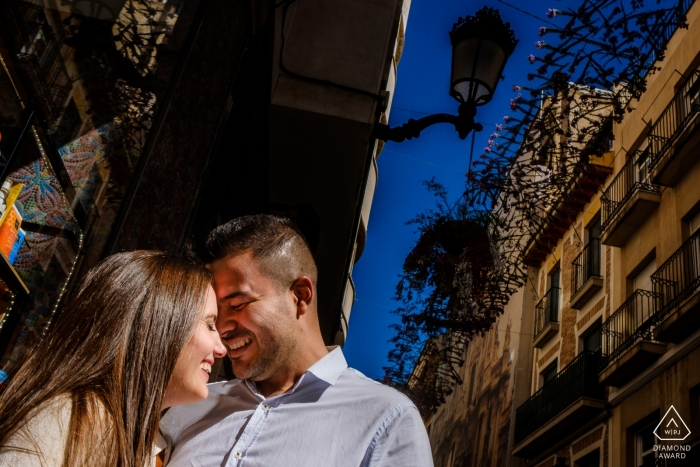 Alicante Engagement Photographer   pre-wedding portrait session in town