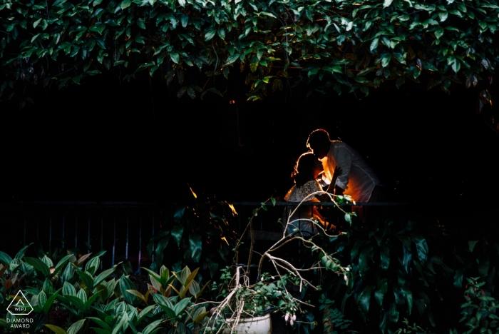 Da Lat, Vietnam pre-wedding photos | A glowing kiss amidst the trees