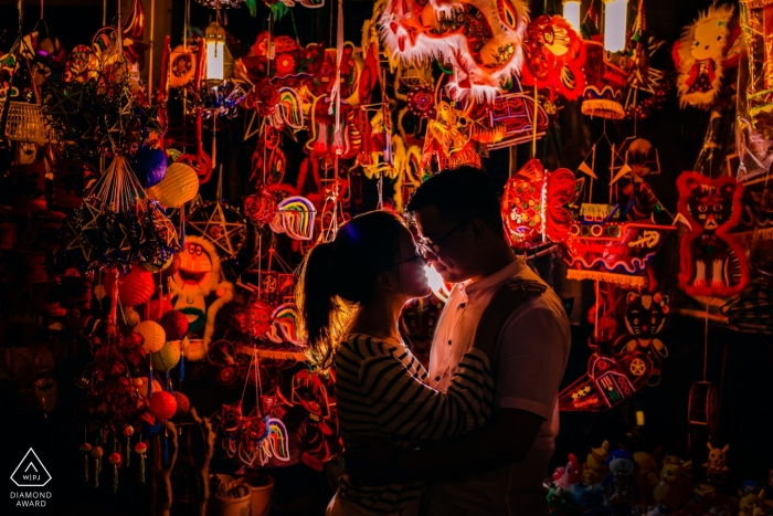 Ho Chi Minh city, Vietnam pre-wedding portraits - Happy Mid Autumn Festival