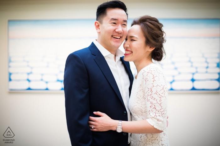 Chicago, IL O'keefe - sesión de retratos en interiores para parejas comprometidas