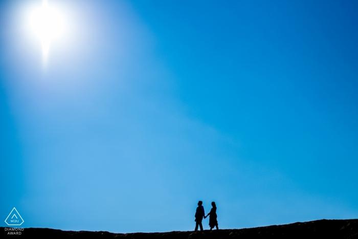 Pondicherry Verlobungsstunde - Es war ein langer sonniger Tag, an dem wir uns beeilten, unser Shooting abzuschließen. Das aufgenommene Bild wird viel über die damit verbundene Anstrengung sagen.
