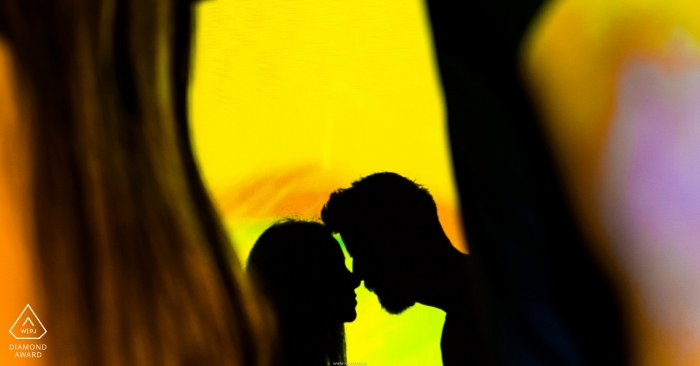 Spacewonder, Arizona engagement photo shoot - Love's shadow on this couple silhouetted