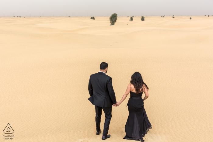Pre-wedding portrait Photography in the deserts of Dubai