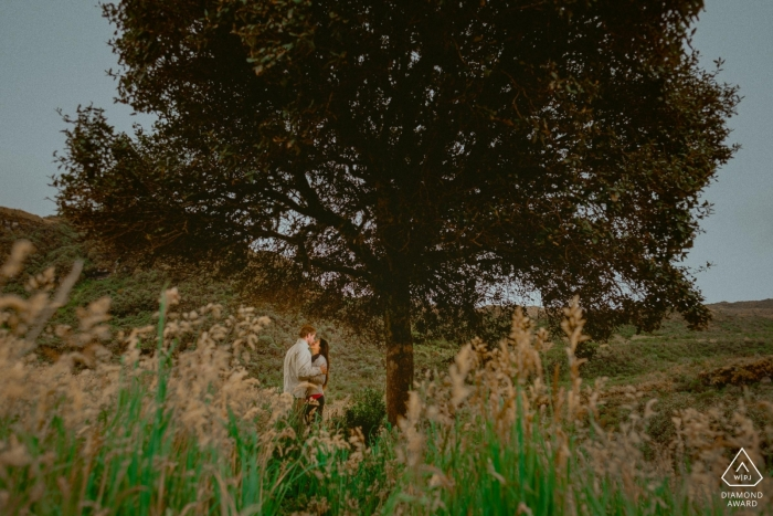 Bolívar Love session | pre-wedding portraits of a couple With a lone tree