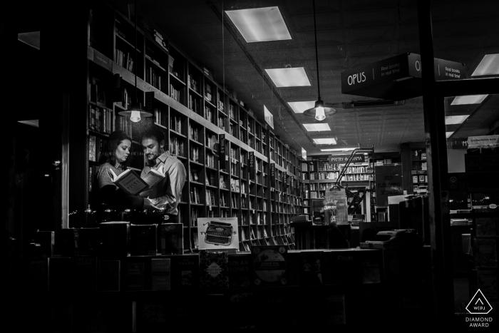 Washingon DC Book Lovers Paradise Engagement Photography Session