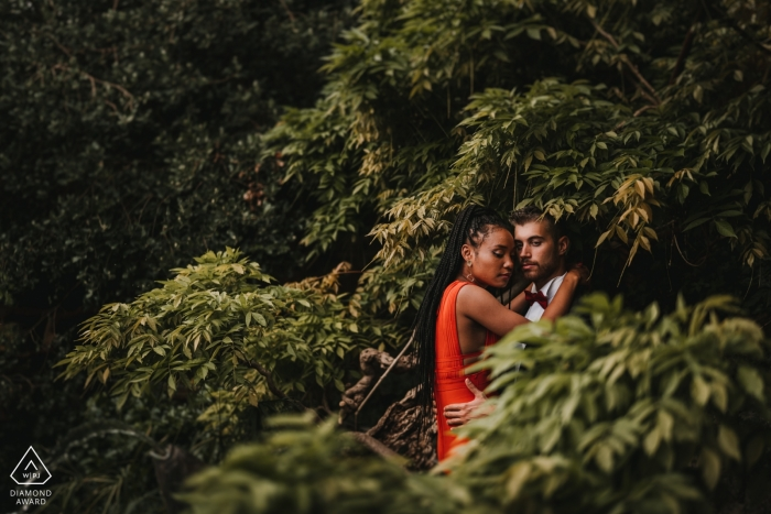 Florence Garden of Rose Elopement Session in the Florence Trees
