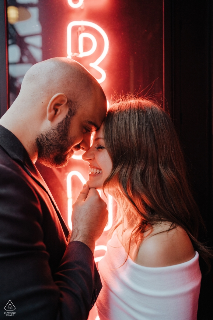 """Soho, Nyc Engagement Photographer: """"Hanging out in Soho and just loving on each other. These two are a cultural blend of love and laughter. He's Israeli, she's Russian. They both live in NYC."""""""