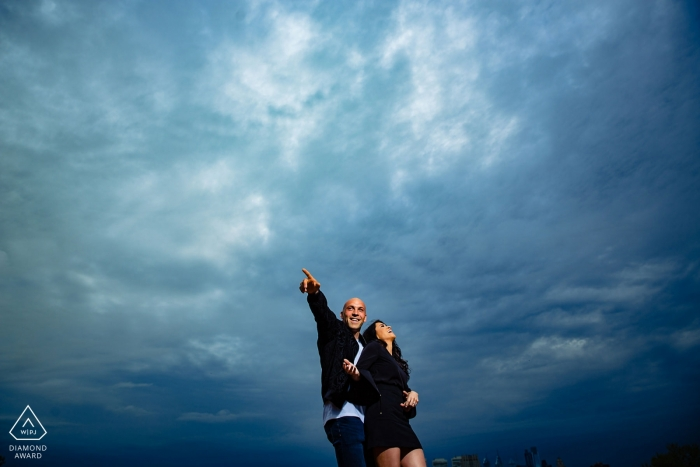 """Camden Waterfront Engagement Portrait Photographer: """"Told them to get loose and this is what happened."""""""