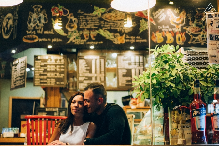 Ruse, Bulgaria - Love Couple Portrait In The Bar