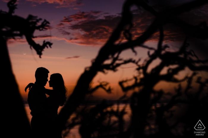 Phuket, Thailand Sunset Engagement Portrait with couple