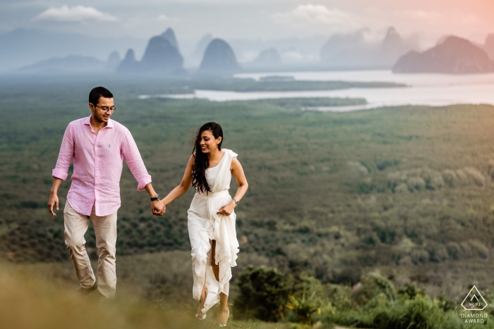 Landschaft von Sametnangsee, Phangnga-Verlobungsfotografiesitzung