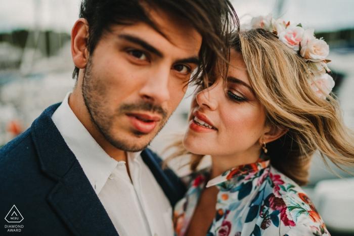 Marina di Scarlino Sesja zdjęciowa z zaręczoną parą - miłość to coś więcej niż pocałunek