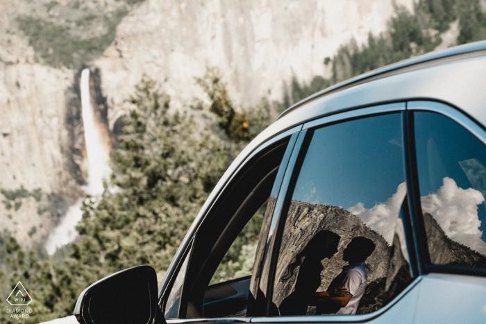 Sessione fotografica di fidanzamento nel parco nazionale Yosemite
