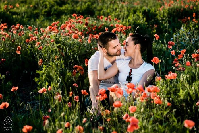Bulgarie Sofia - photo d'une séance de fiançailles avec des clients du mariage