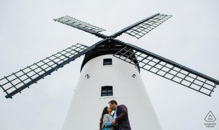 Lytham Windmill Museum Lancashire, UK engagement photo at windmill