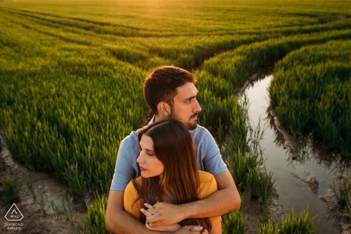 Albufera de valencia engagement shoot in flooded fields