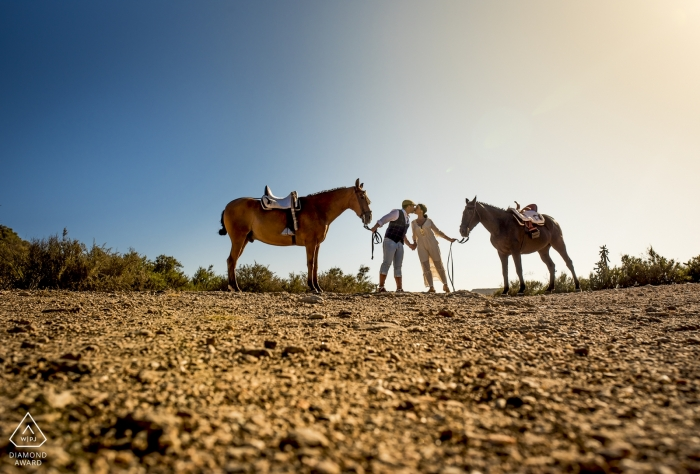 Águilas - Murcia Engagement Photography - An afternoon of horseback riding