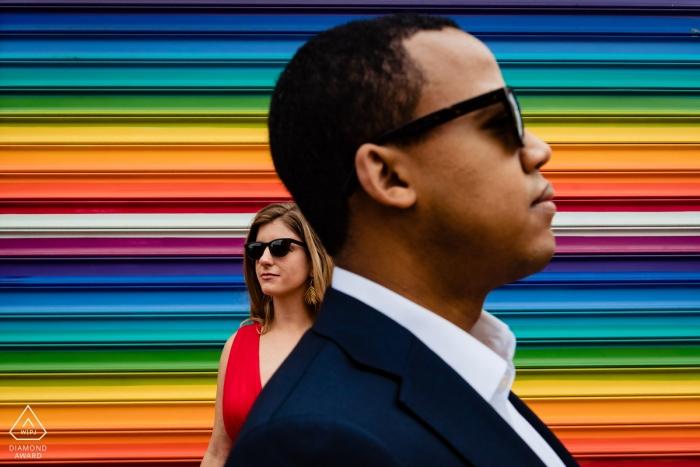 Washington DC U Street Shoot avec des peintures murales et un couple