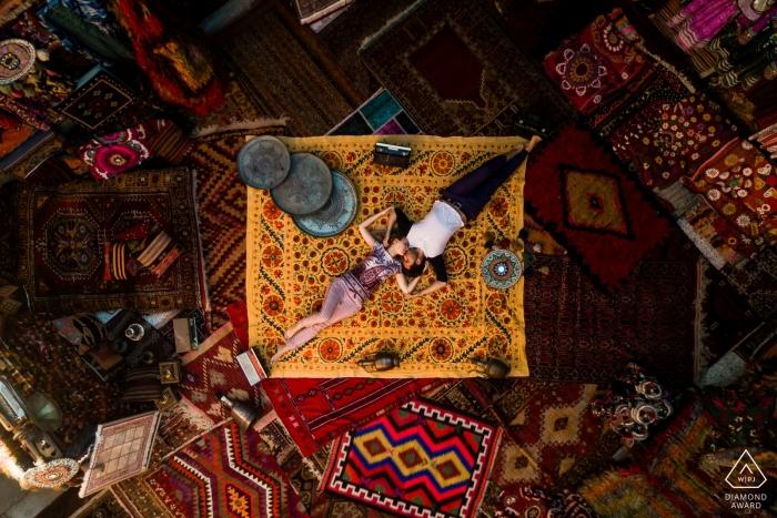 Séance d'engagement de la Turquie avec un couple russe en Cappadoce
