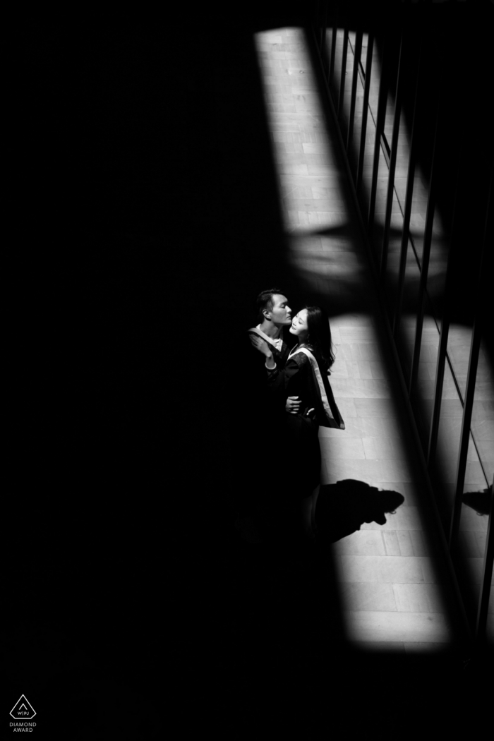 Black and White Pre Wedding Portrait Photos in Beijing China