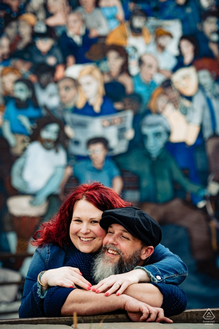 Charlotte Arts District Engagement Photography for Couples.