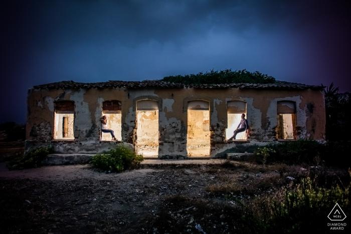 Photographie de fiançailles Siracusa - Printemps en Sicile lors de la pré-mariage Photos.