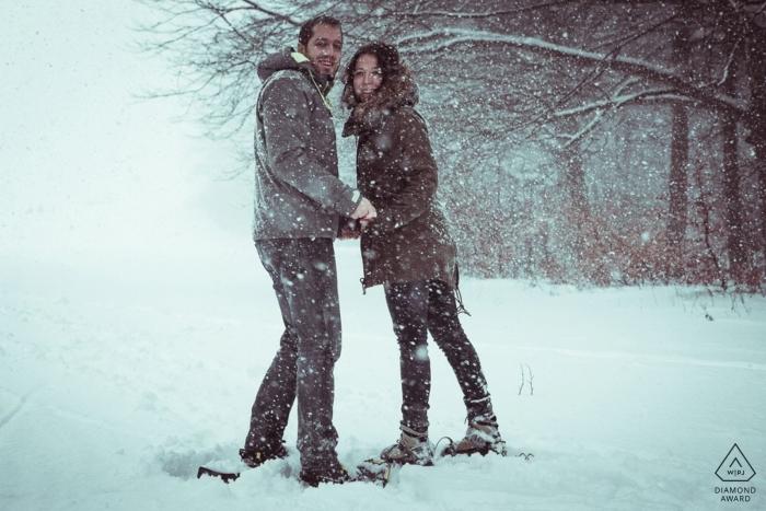 Baden Württemberg - Schwäbische Alb Engagement Portraits in the Snow