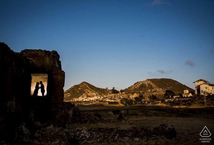 Mazarron - Photographie de fiançailles de Murcie - Couple, Baisers et ombres