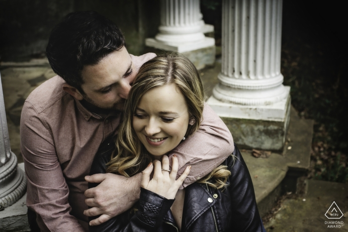 St Paul's Walden Bury, Hertfordshire - I took this in the Temple of Venus, a folly within the grounds of the Parker-Bowels estate, where the couple live. I wanted a very natural shot of two people who didn't much like the camera but they loved this image