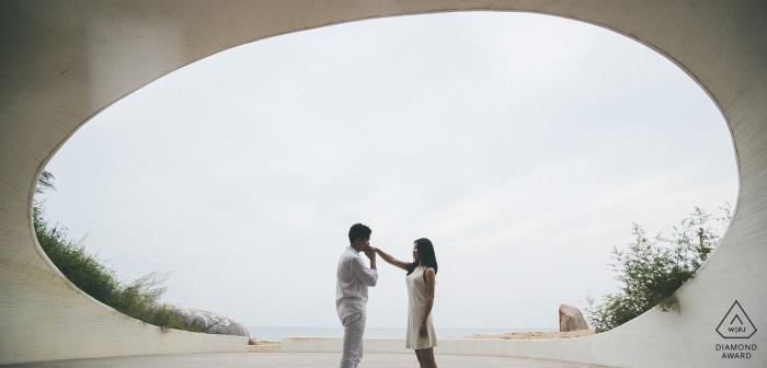 Pekin portrety ślubne z zaręczoną parą