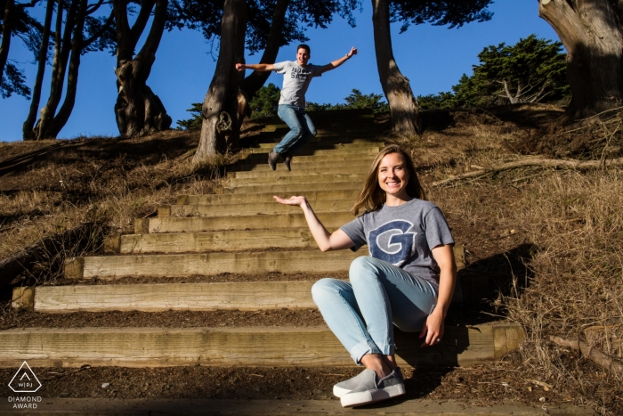 San Francisco Humorous Engagement Portraits