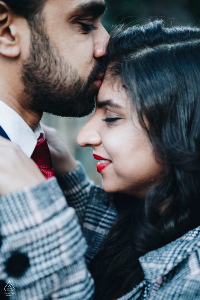Engagement Photographer for Newcastle upon Tyne - Forehead kisses are the sweetest
