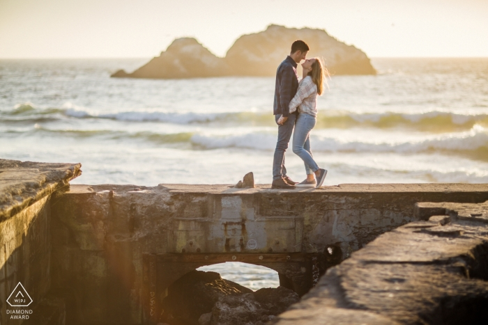 Engagement Photographer for San Francisco - Time for the couple till the end of the world - beach portraits