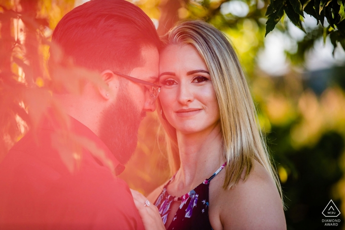 "Engagement Photos from Philadelphia, Pennsylvania - Longwood Gardens  - Photographer: ""I always look to add color and light. That's this."""