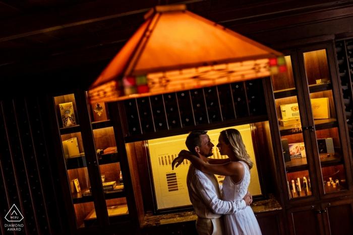 Resort Salinda silhouet liefde portret voor een romantisch koppel