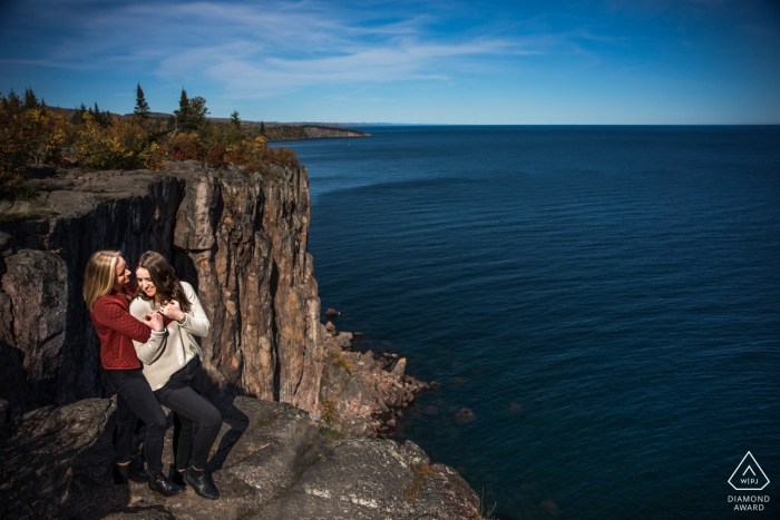 Duluth Couple on the cliff