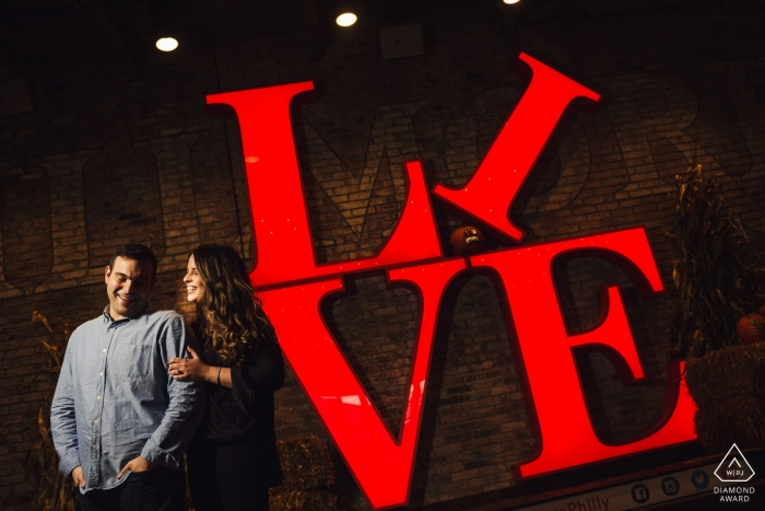 The Fillmore Philadelphia Wedding and Engagement Photographer: Signs and more signs. I love using things like that.