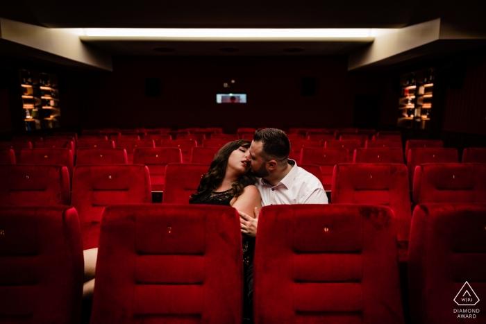 Cinema Casino Aschaffenburg Germany engagement and pre wedding portrait shoot.