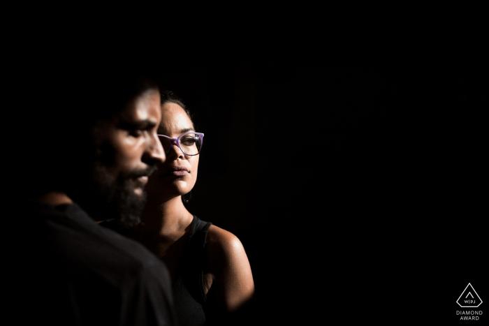 Itapira - São Paulo - Face to face prewedding portrait session in great light.