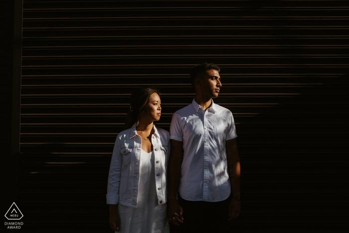 Los Angeles Contrast Couple Portraits for Engagement Session