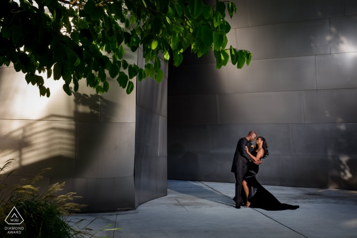 Los Angeles, California Formal Engagement Session Dressed in Black