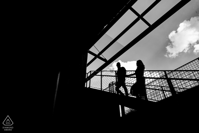 Atlanta, Ga Engagement and Wedding Photographer — silhouette black and white