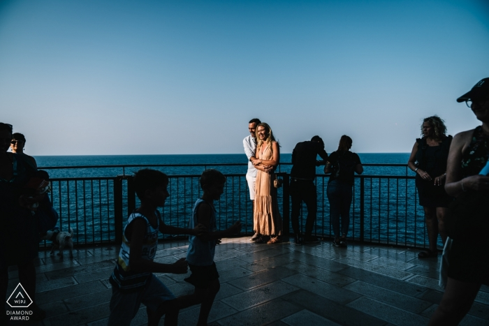 Polignano - Puglia engagement session at the water with good light