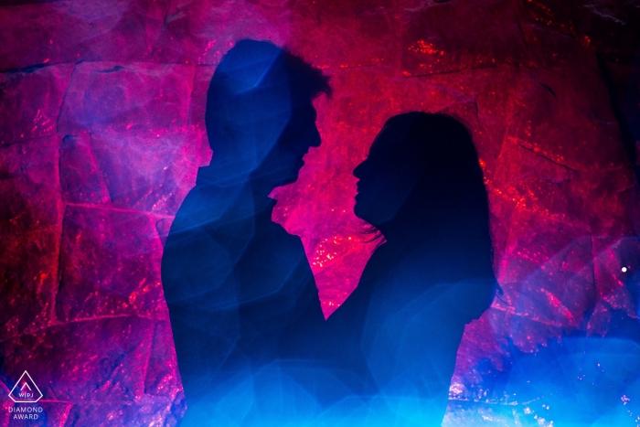 Miraflores Lima Pre Wedding E Shoot - Light Blue and Red