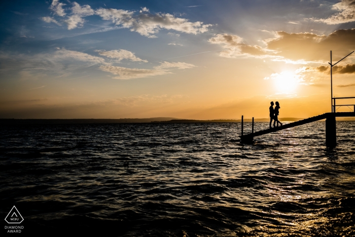 Baden-Wurttemberg pre wedding portraits - Immenstaad am Bodensee - silhouettes of love