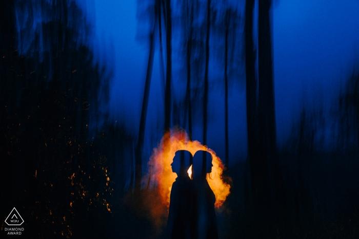 Da Lat, Séance de photo de mariage avant le Vietnam - Ombre des amoureux de la nuit