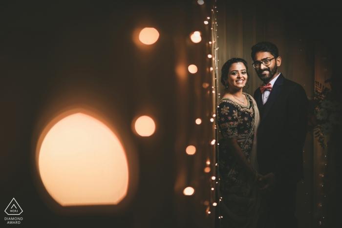 Meenambakkam, Chennai  Pre-wedding couple shoot on the eve of the wedding
