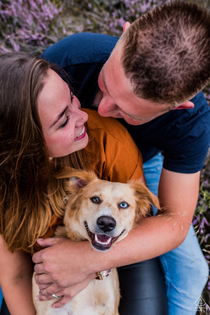 Zeegse pre-wedding engagement shoot - the happiest of them all, of course.. the dog!